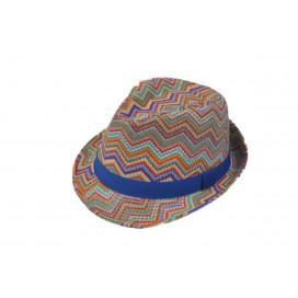 zigzag street hat rainbow